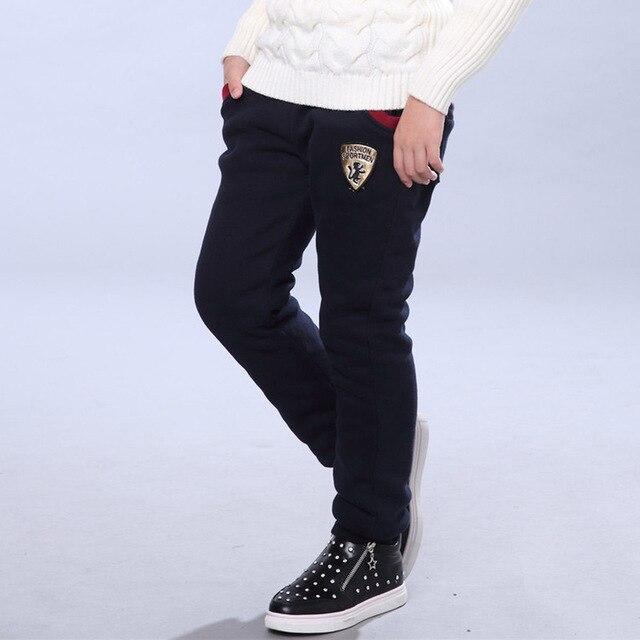 Winter Pants for Boy Kids Warm Thick Fleece Fur Lining Leggings Sport Trousers 4Y-14Y Teen Boys Straight Full Leggings Joggers 3