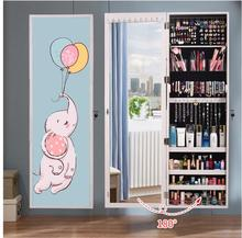 Mirror full-length mirror female wall-mounted mirror simple modern dressing mirror household multi-function with mural fitting m