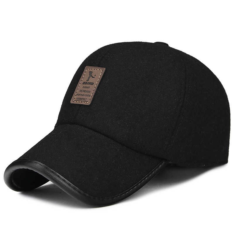 New Men's Woolen Hat Men Thick Warm   Baseball     Cap   Snapback Bonnet Autumn Winter Fashion Men's Outdoor Ski Cycling Dad Hats Gorras