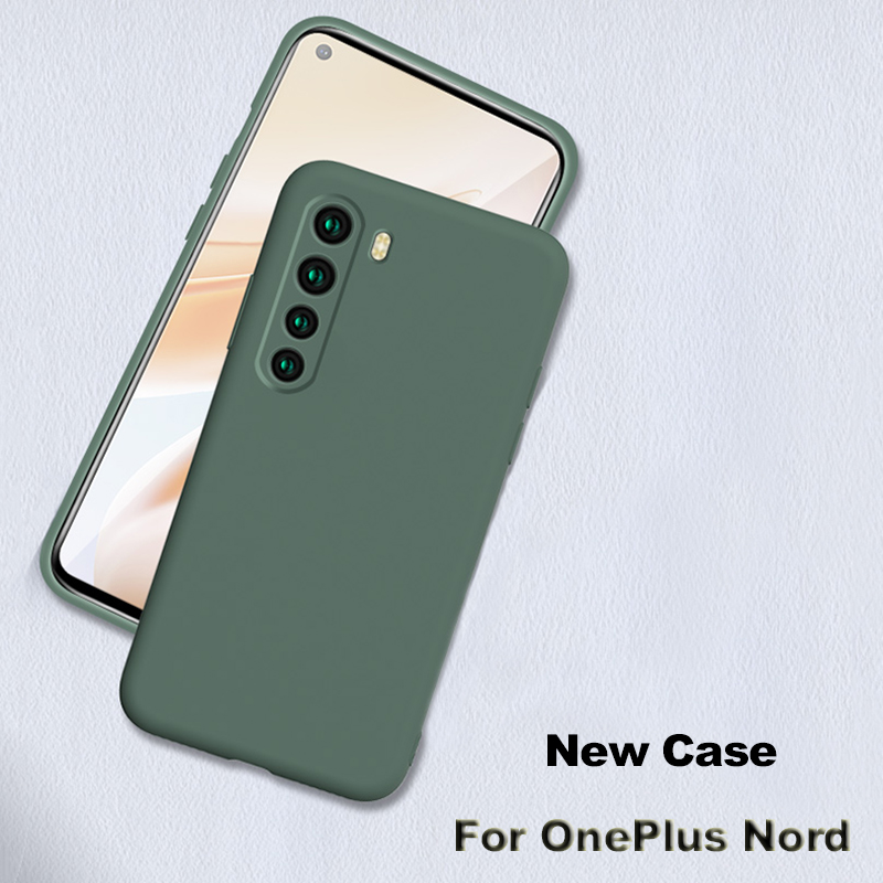 JIANSU For OnePlus Nord Case Liquid Silicone Camera Lens Protection Soft Phone Case For One Plus Nord 5G 1+Nord Back Cover Shell