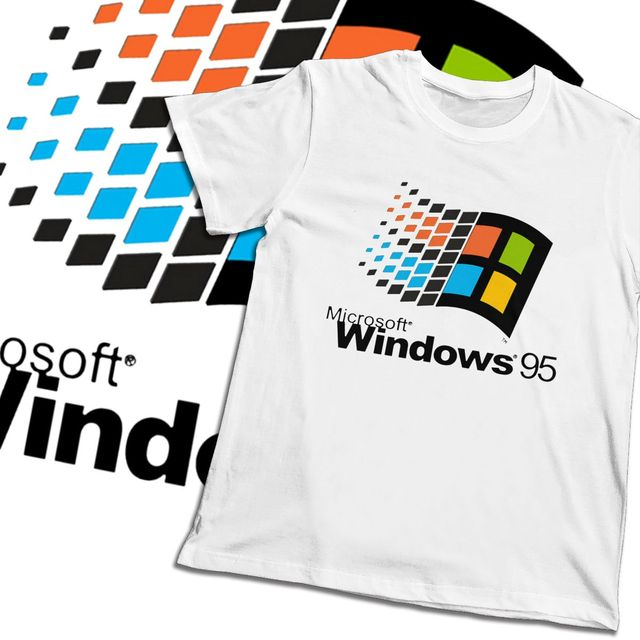 Vintage Windows 95 Vaporwave T shirt For Men Summer Cool Man Cotton Short Sleeve Round Collar 2