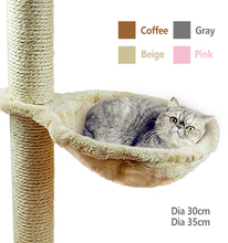 A rede macia do gato instala no canil do sono do gato da árvore do gato que pendura o luxuoso grosso 4 cores diâmetro grande da capacidade 30cm/35cm da cama do animal de estimação gato grande