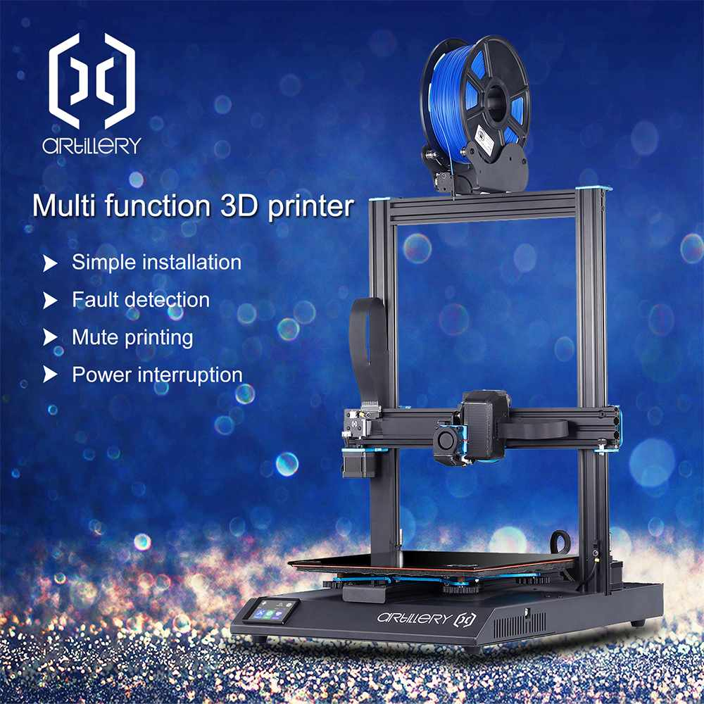 Artillery Sidewinder X1 3D Printer Kit with 300*300*400mm Large Print Size Resume Printing Dual Z axis/TFT Touch Screen