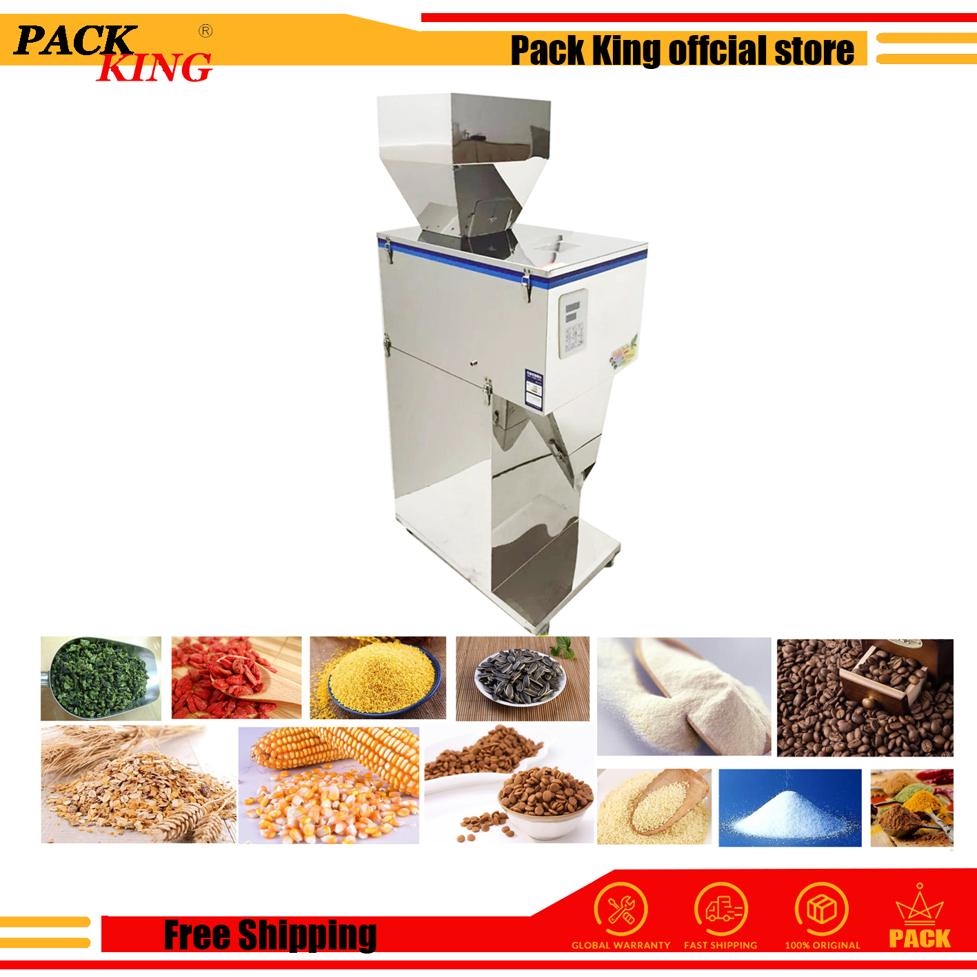 5000g Big Weight And Filling Machine Coffee Beans Tea Leaf Grain Seed Salt Rice Racking Machine Milk Powder Filler Free Shipping