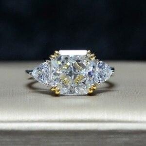Image 1 - Роскошное обручальное кольцо для женщин, квадратное кольцо AAAAA + с кристаллом из циркония, романтическое свадебное женское кольцо, вечерние Подарочные Кольца для девушки