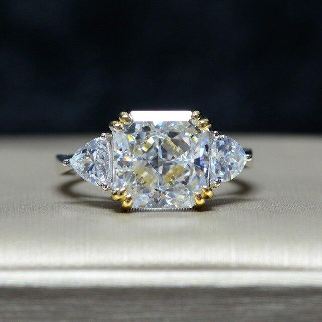 Роскошное обручальное кольцо для женщин, квадратное кольцо AAAAA + с кристаллом из циркония, романтическое свадебное женское кольцо, вечерние Подарочные Кольца для девушки