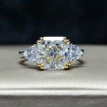 Luksusowe obrączki dla kobiet plac AAAAA + cyrkon pierścień kryształ romantyczny ślub kobieta pierścień Party prezent dla dziewczyny