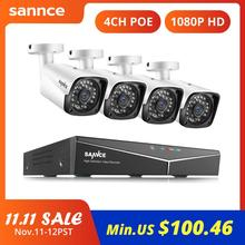 SANNCE 4CH HD 1080P XPOE Camera Quan Sát NVR Hệ Thống 4 2M Camera IP Ngoài Trời Chống Chịu Thời Tiết Video Gia Đình An Ninh camera Giám Sát Hệ Thống