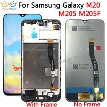 Lcd 6.3 para samsung galaxy m20 2019 SM M205 m205f, display lcd touch screen digitador peças de reposição