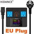 HiDANCE штепсельная вилка европейского стандарта ac220в измеритель мощности цифровой счетчик мощности счетчик энергии ватт монитор стоимости э...