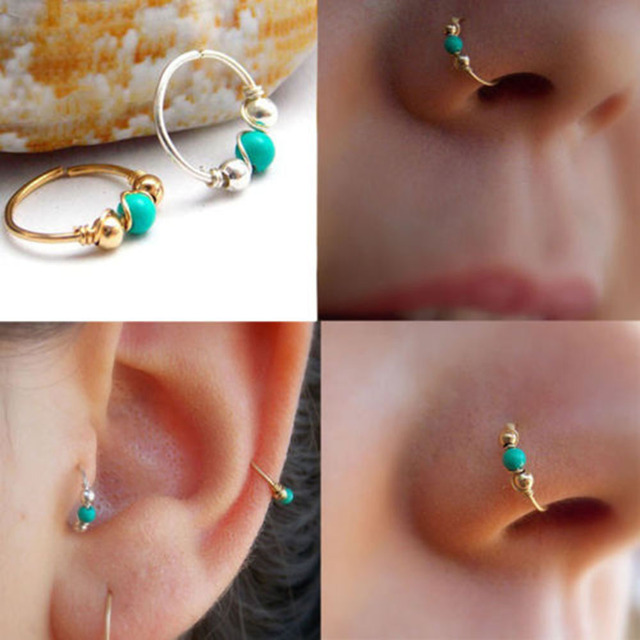 2019 Silver and Gold Color Nose Ring Ear Hoop Tragus Cartilage Earring Crystal Stainless Steel Cartilage.jpg 640x640 - 2019 Silver and Gold Color Nose Ring Ear Hoop Tragus Cartilage Earring Crystal Stainless Steel Cartilage Earring 10mm 12mm hot