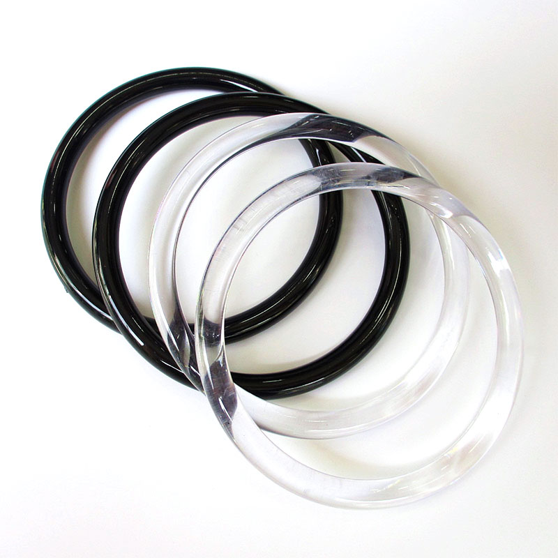 Plastic Ring Handles For Bags Transparent Replacement DIY Accessories For Bags Making Shopping Handbag Purse Strap Accessories
