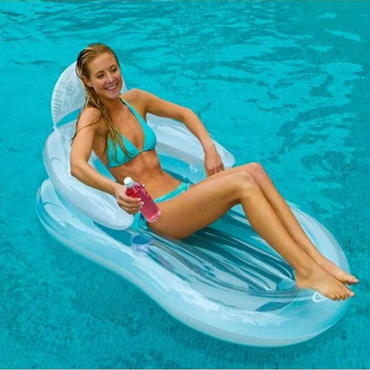 INTEX Genuine Product 58857 Transparent Armrest Backrest Loungers Surfing, Water-skiing, Windsurfing
