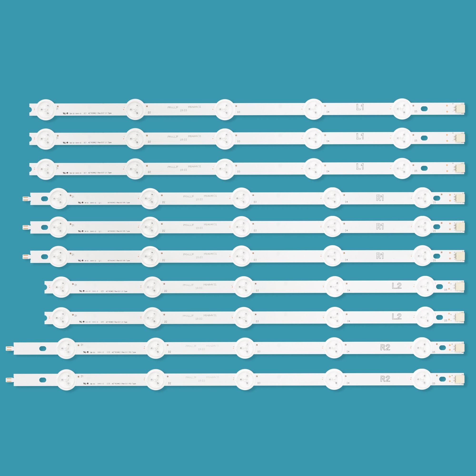 10PCS/lot TV LED Backlight Strip For LG 42LN575S 42LA615V 42LN570S 42LA620V 6916L-1385A/6916L-1386A/6916L-1387A/6916L-1388A