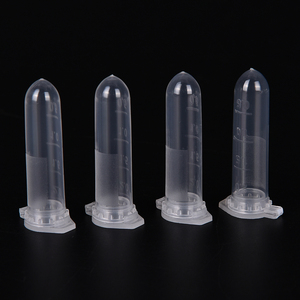 100Pcs 2ml Micro Centrifuge Tube Test Tube Vial Clear Plastic Vials Container Snap Cap For Laboratory Sample Specimen Storage