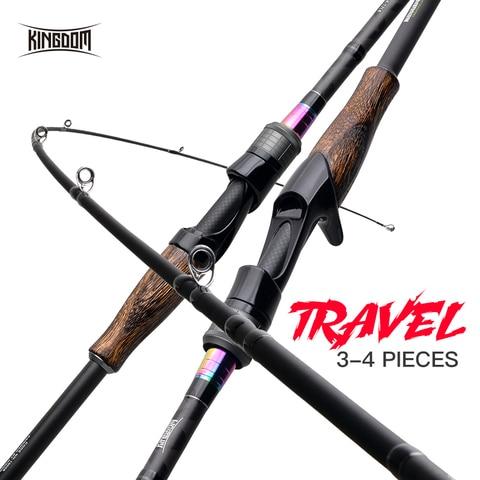 reino viagem vara de pesca para isca de pesca 3 4 pecas de pouco peso