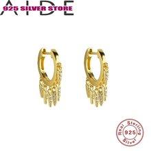 Aide серьги кольца для женщин 100% 925 пробы серебряные kolczyki;
