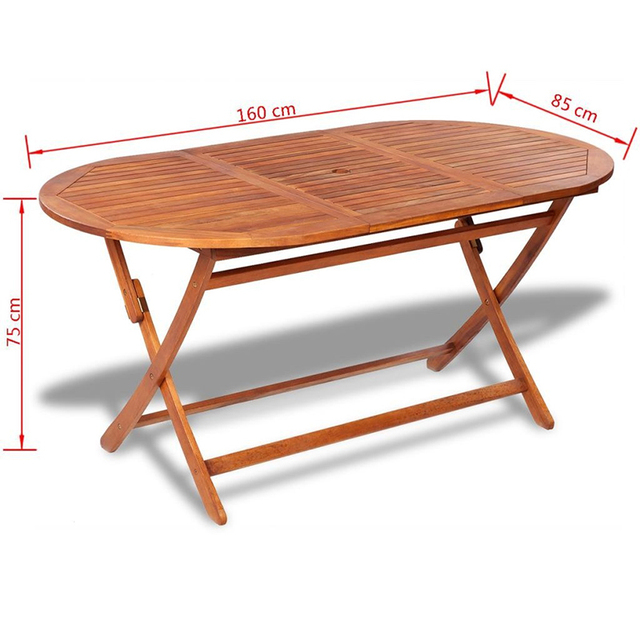 Outdoor Wooden Folding Portable Dining Table  2
