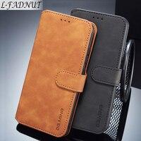 L-FADNUT Vintage Cassa Del Raccoglitore Per Xiaomi Mi 8 A2 Lite Pocophone F1 di Lusso di Vibrazione Magnetica Della Copertura del Cuoio Per Redmi 6 6A Nota 6 Pro