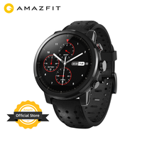 New Amazfit Stratos+ Flagship Smart Watch Genuine Leather Strap Gift Box Sapphire Glass Flourorubber Strap for Android Phone
