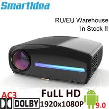 Smartldea Proyector LED S1080, 1920x1080P, HD, Keystone Digital 4D, Android 9,0, WiFi opcional, HDMI, Proyector de Casa 3D