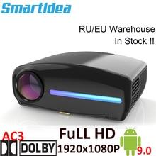 Smartldea S1080 1920*1080 hdプロジェクターを主導、 4Dデジタルキーストーン、アンドロイド 9.0 wifiオプション、hdmiスマートproyector、 3Dホームビーマー