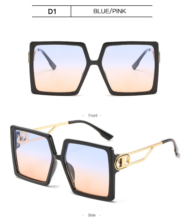 Fashion Sunglass Designer Luxury Brand Square Sunglasses Women Vintage Oversized 2021 trend Female Sun Glasses Shades For Women (11)