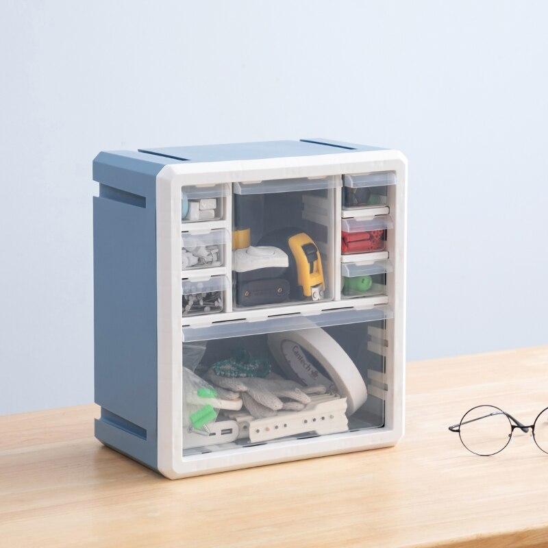 Multi-fonction organisateur de tiroir de rangement articles divers maquillage organisateur de maison boîte de rangement en plastique pour bloc de construction mur de jouet