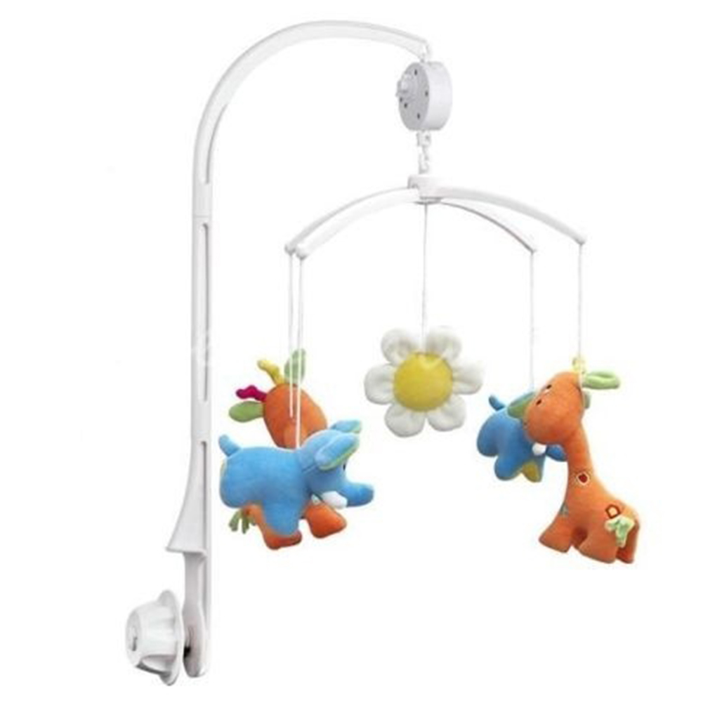Professional Baby Crib Bell Wholesale Pure White Bracket Set Baby Crib Mobile Bed Bell Toy Holder Arm Bracket