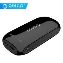 ORICO 4000 мАч 2000 мАч Внешний аккумулятор 18650 USB внешний мобильный резервный смартфон зарядное устройство для iPhone мобильный зарядное устройство 30 см USB кабель