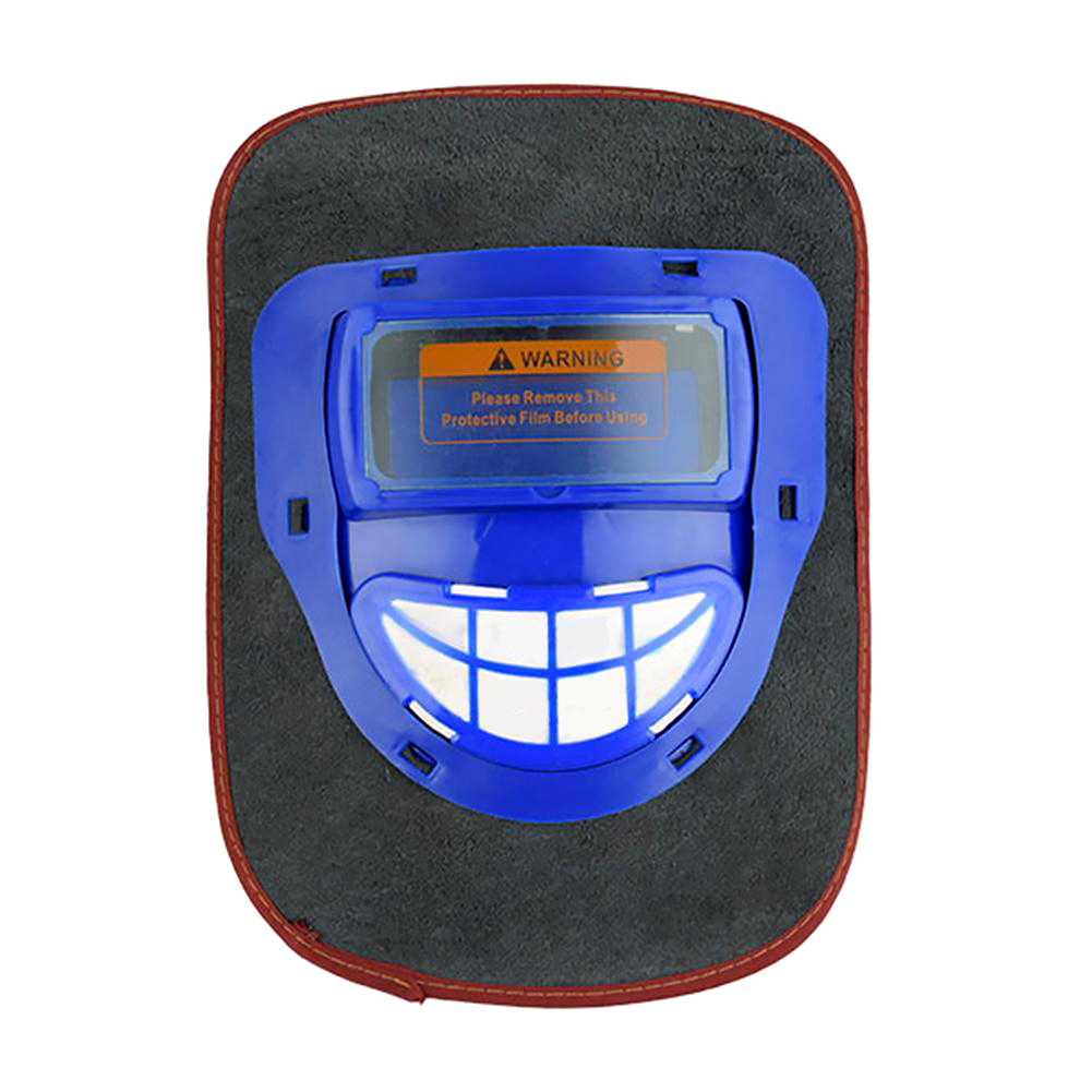 Сварочный шлем с автоматическим затемнением для маски сварщика защита для глаз сварочная Крышка маска из коровьей кожи фильтр для