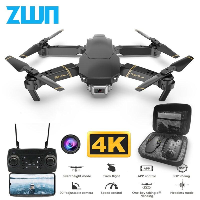 Drone ZWN Z20 RC avec FPV WIFI 480P 1080P 4K HD double caméra quadrirotor Opitcal contrôle de débit Mini Drone VS SG106 E58 Dron