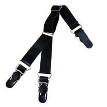 Shirt Stays Suspenders-Braces Gentleman Garter-Holder Business Mens for Leg Elastic Sports