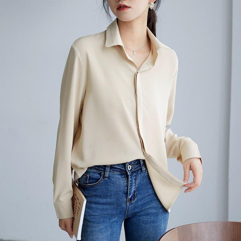 Korean Chiffon Shirts Women Solid Blouse Shirt Plus Size Blusas Mujer De Moda 2020 Woman Long Sleeve Blouse Shirts Camisas Mujer