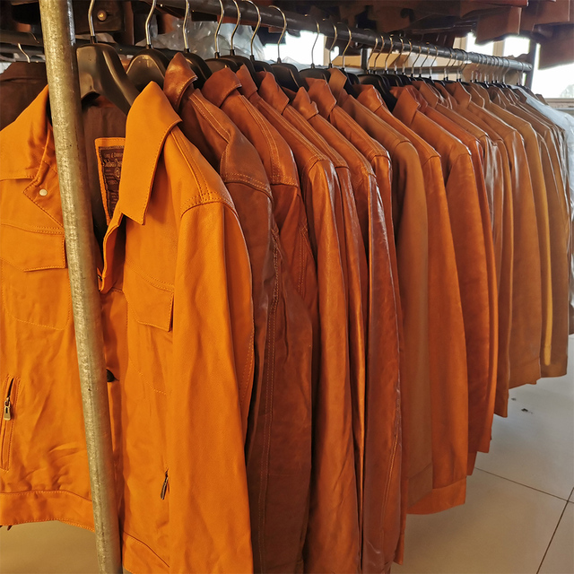 SALE CLEARANCE! RANDOM Color ! Men Leather Jacket 100% Natural Cowhide or Sheepskin Leather Jacket Man Skin Coat Autumn M163 6