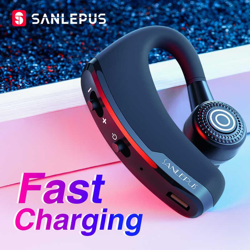 SANLEPUS szybkie ładowanie zestaw słuchawkowy bluetooth biznes bezprzewodowe słuchawki telefon samochodowy mikrofon do zestawu głośnomówiącego i muzyka dla iPhone Xiaomi Samsung