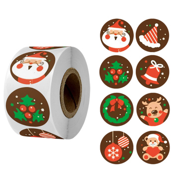 500pcs Merry Christmas Stickers Christmas Tree Elk Candy Bag Sealing Sticker Christmas Gifts Box Labels Decorations New Year 1