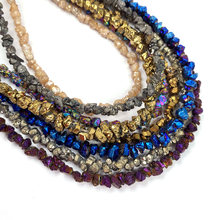 Natural Stone Loose Beads Color Plating Crystal Gravel Irregular Shape for Jewelry Making Necklace Accessories Gifts for Women(China)