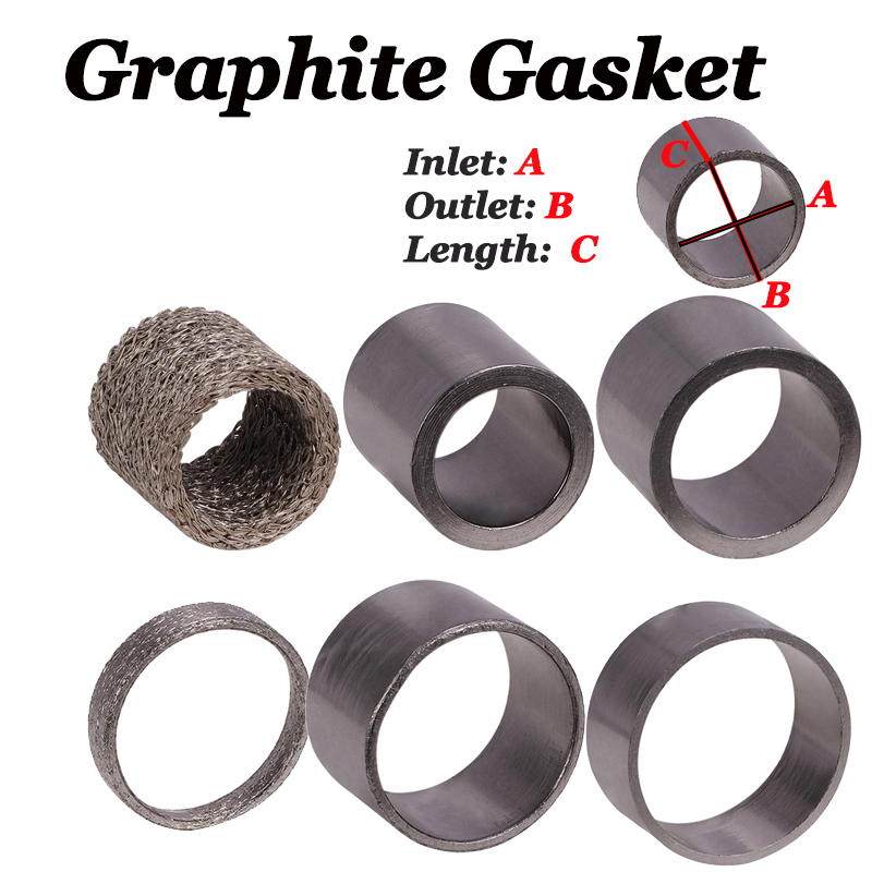 Motorcycle Exhaust Silencer Muffler Connector Gasket Graphite Seal For Yamaha