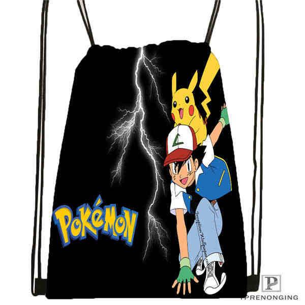 De pokemon_pikachu @ 02-mochila bolsa mochila niños bolso (negro) x 31x40cm #180611-01-43