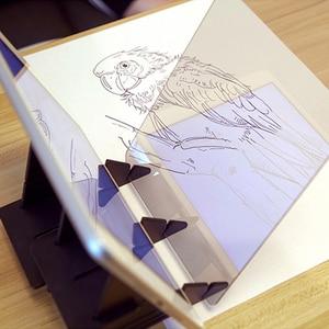 Image 5 - 내구성 휴대 전화 홀더 스케치 마법사 추적 드로잉 보드 광학 그리기 프로젝터 그림 반사 추적 라인 테이블