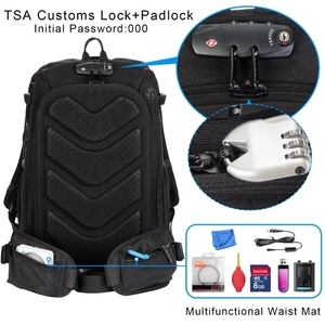 Image 5 - Camera Backpack Waterproof Anti theft Nylon Photo SLR Case Bag Backpack Camera Bag with TSA Lock Rain Cover for Canon Nikon Sony