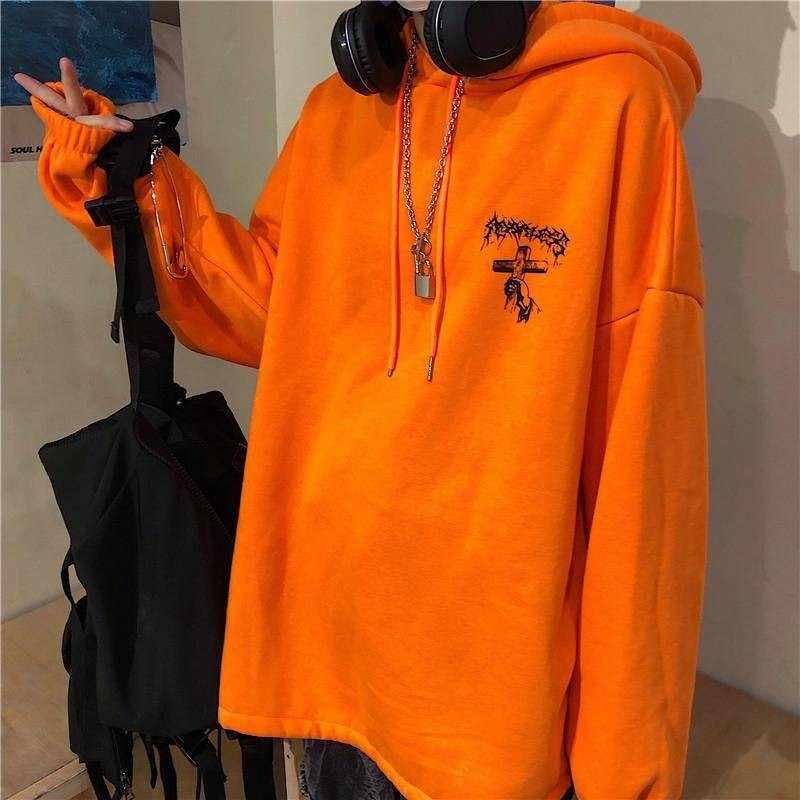 NiceMix bluzy męskie bluzy jesień kobiety mężczyźni Hip Hop męskie bluzy Streetwear Punk nadruk z diabłem bluza z kapturem mężczyźni jesień luźne