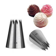 #366 Stainless Steel Diy Besar Icing Piping Tips Ukuran Besar Cupcake Kue Piping Nozzle Kue Parsty Dekorasi Alat(China)