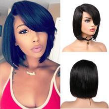 FAVE парик с вырезами фея, парики с короткими волосами, парики с короткими волосами, парики из бразильских человеческих волос, парики для черных женщин, предварительно выщипанный парик на сетке