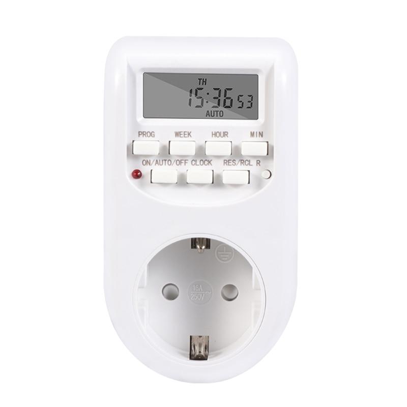 Digital Timing Switch European Socket Kitchen Timing Socket220VAC 50Hz 10A 2200W
