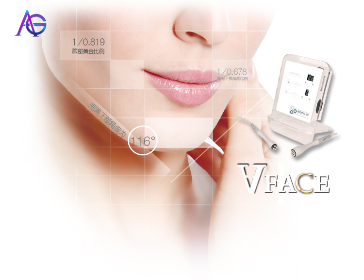 Portable 2-in-1  High Frequency Facial Machine For V Face And Face Lifting