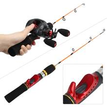52cm Ice Fishing Rod Pole Two Sections Three Guide Ring FRP Fiber Material Accessory Fly Fishing Tackle Accessory(China)