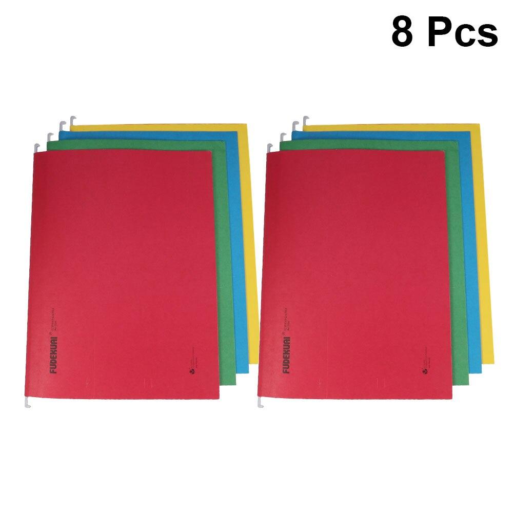 8Pcs Portable Suspension File Folder Hanging File Holder Paper Frame Documents Organizer Office Supplies(Random Color )