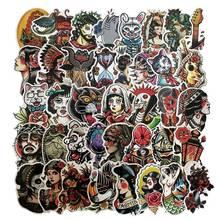 50 Pcs lot Colorful Old School Style Tattoo Beauty StickersFor Laptop Bicycle Phone Guitarl Cartoon Stickers Pack cheap Giraffita CN (Herkunft) WANXE7435 6 JAHRE ALT 3 JAHRE ALT 8 JAHRE ALT like picture Papier
